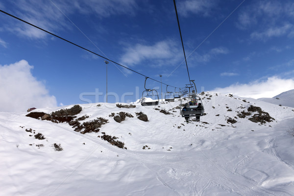Chair-lift at winter mountains Stock photo © BSANI