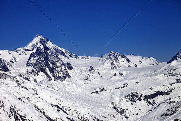 Stock photo: Winter Caucasus Mountains in nice sun day
