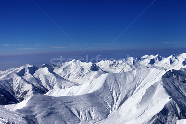 View on off-piste slopes and multicolor blue sky at nice sunny d Stock photo © BSANI