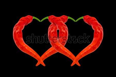 Сток-фото: два · сердцах · красный · зеленый · изолированный