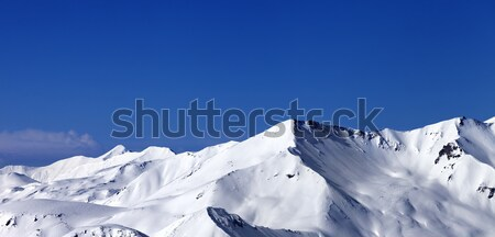 Panoramic view on snowy plateau at nice day Stock photo © BSANI