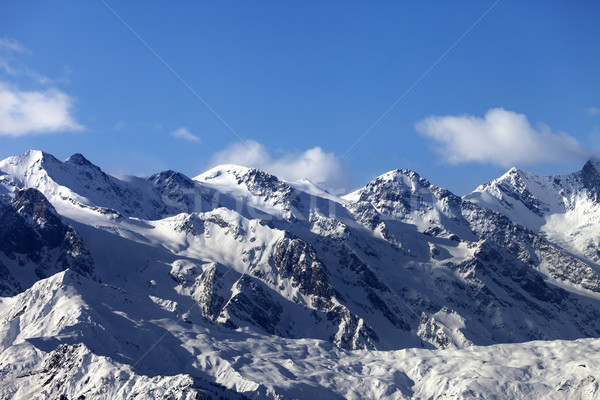 Winter mountains at nice sunny day Stock photo © BSANI