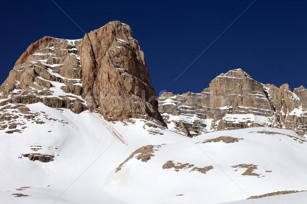 岩 雪 青空 トルコ セントラル 山 ストックフォト © BSANI