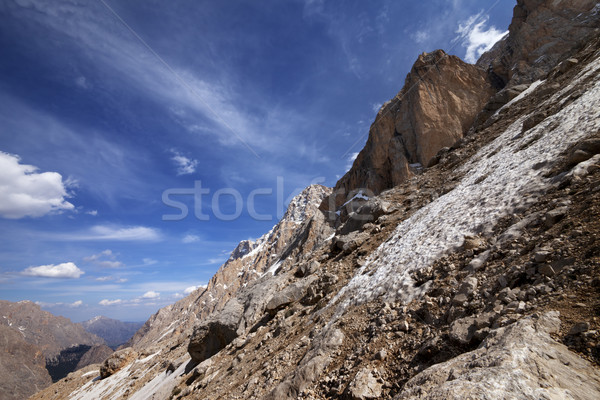 Rocks with snow at sun day Stock photo © BSANI