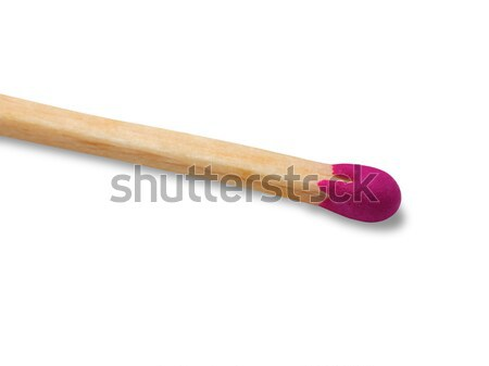 Wooden match isolated on white background Stock photo © BSANI
