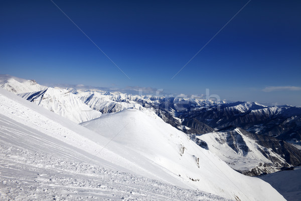 Off-piste slope at sun day Stock photo © BSANI