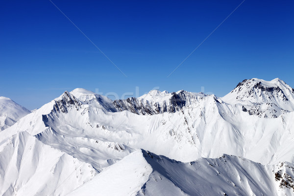 Stock photo: Snowy mountains in nice sun day