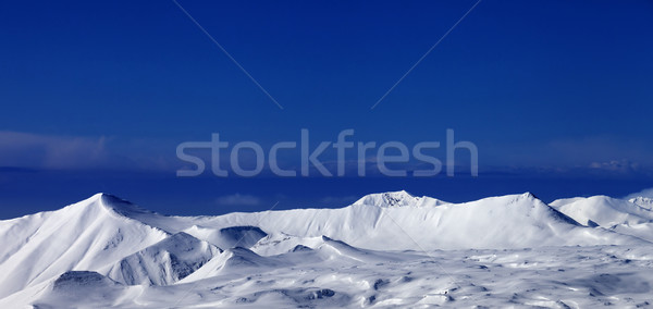 Panoramic view of snowy plateau Stock photo © BSANI