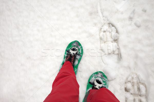 Andarilho neve primeiro pessoa ver homem Foto stock © BSANI