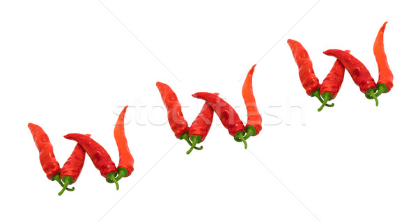 WWW text composed of chili peppers Stock photo © BSANI