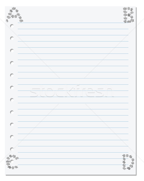 Notebook paper with letters A B C D in corner composed of autumn Stock photo © BSANI