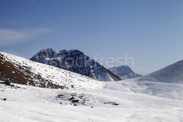 Off piste slope at sunny day Stock photo © BSANI