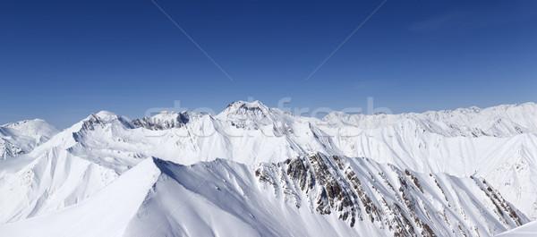 Panoráma tél hegyek Kaukázus Grúzia kilátás Stock fotó © BSANI