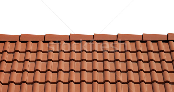 Stock photo: Roof tiles isolated on white background