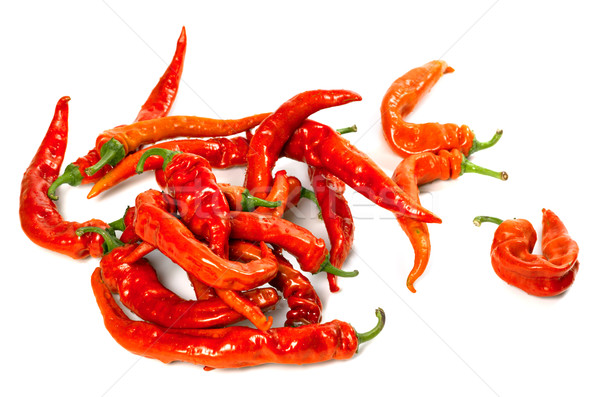 Wet red chili peppers  Stock photo © BSANI
