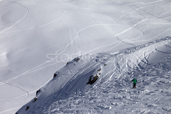Skier on off-piste slope Stock photo © BSANI