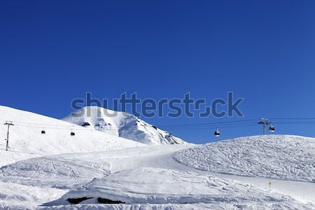 Panoramic view on skiing slope Stock photo © BSANI