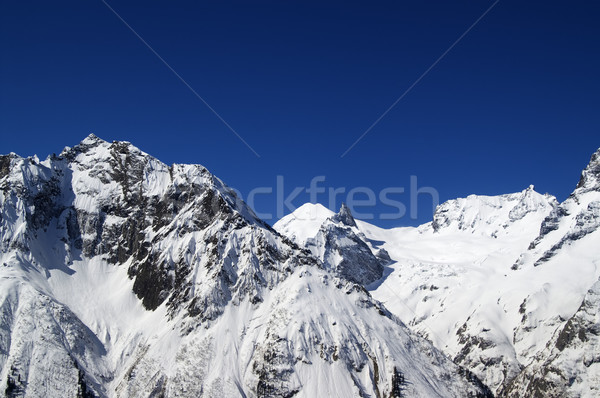 Montagna fiera Meteo caucaso panorama montagna Foto d'archivio © BSANI
