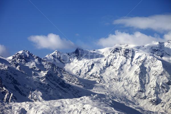 Montagna ghiacciaio caucaso regione Georgia Foto d'archivio © BSANI