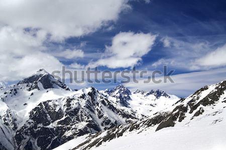 Kafkaslar dağlar gökyüzü manzara dağ buz Stok fotoğraf © BSANI