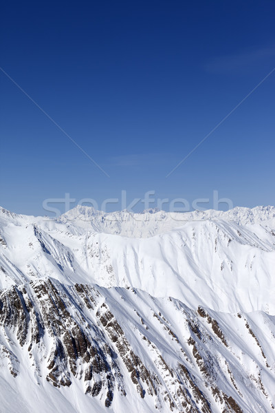 Winter mountains. Caucasus Mountains, Georgia Stock photo © BSANI