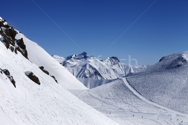 Top view on ski slope at nice sun day Stock photo © BSANI