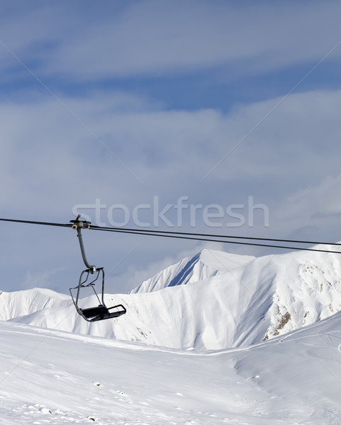 Chair lift at ski resort Stock photo © BSANI