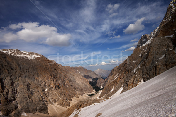 先頭 表示 谷 トルコ セントラル 山 ストックフォト © BSANI