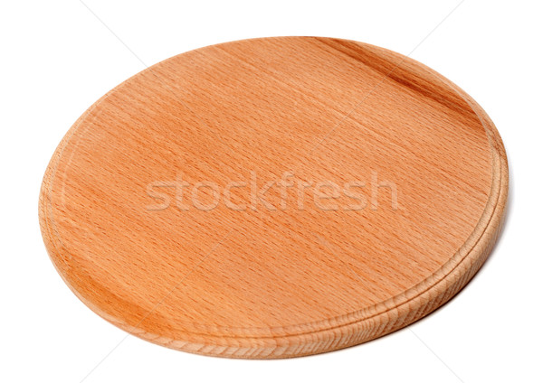 Round wooden kitchen board Stock photo © BSANI