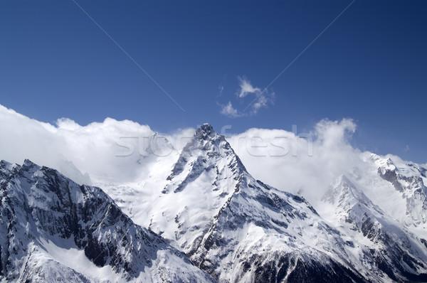 Hight Mountains. Caucasus, Dombay. Stock photo © BSANI