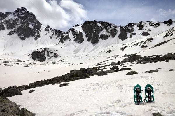 Hó hegyek nap tavasz nap sport Stock fotó © BSANI