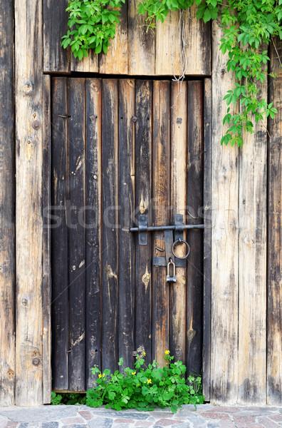 Velho porta vintage metal trancar Foto stock © BSANI