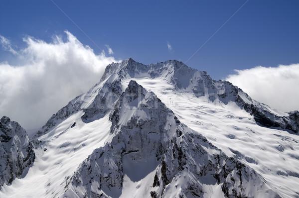 Montanas cáucaso paisaje montana hielo invierno Foto stock © BSANI