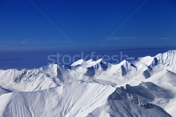 View on off-piste slopes and blue sky at nice sunny day Stock photo © BSANI