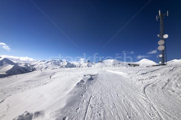 Ratrac ski road at nice sun day Stock photo © BSANI