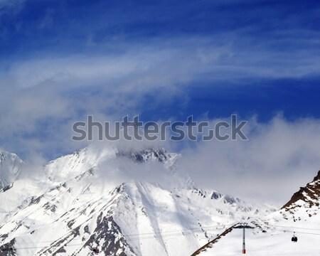 Kış dağlar gökyüzü buğu kafkaslar Georgia Stok fotoğraf © BSANI