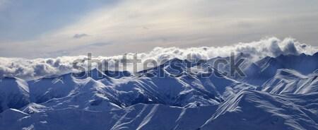 Foto stock: Panorama · montanas · nubes · cáucaso · Georgia