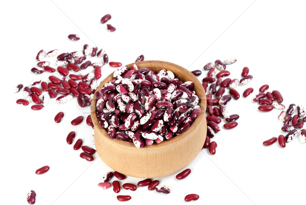 Haricot beans in wooden bowl Stock photo © BSANI