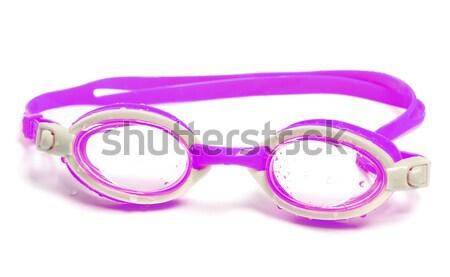 Gafas de protección natación blanco aislado verano gafas Foto stock © BSANI