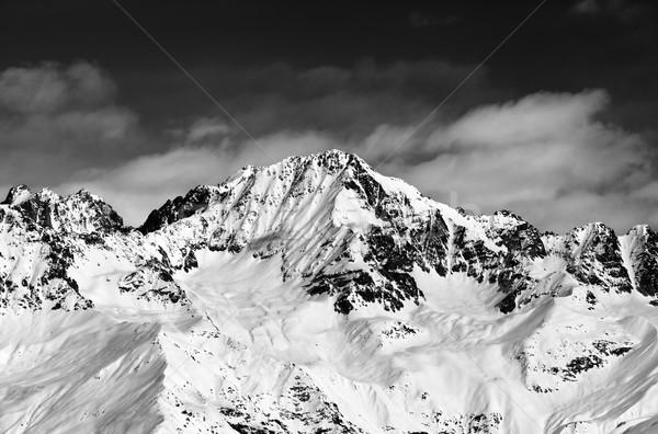 Feketefehér hegyek nap nap Kaukázus régió Stock fotó © BSANI