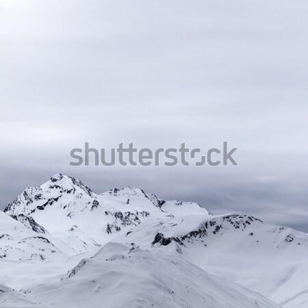 серый гор вечер Кавказ регион спорт Сток-фото © BSANI