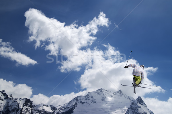 Freestyle ski ciel nature croix glace Photo stock © BSANI