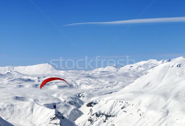 Sky gliding in Caucasus Mountains Stock photo © BSANI