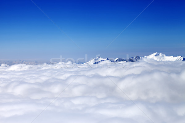 Mountains under clouds at nice day Stock photo © BSANI