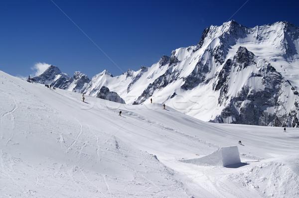 Stok fotoğraf: Snowboard · park · kafkaslar · dağlar · Kayak · başvurmak