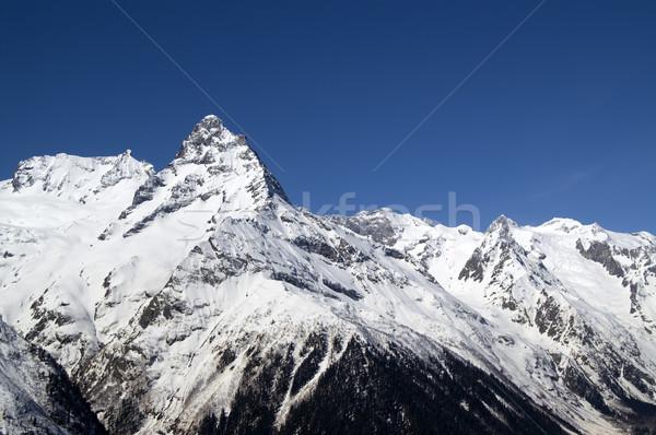 Kafkaslar dağlar bölge manzara dağ buz Stok fotoğraf © BSANI
