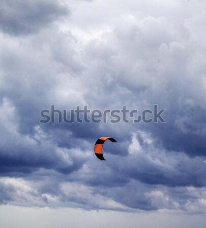 Power kite and gray sky Stock photo © BSANI