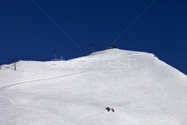 Ski slope and ropeway Stock photo © BSANI