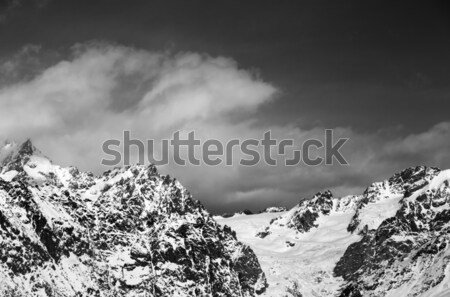 Black and white snowy mountains and glacier Stock photo © BSANI