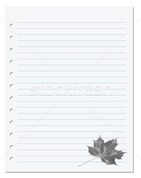 ноутбук бумаги дерево школы природы лист Сток-фото © BSANI